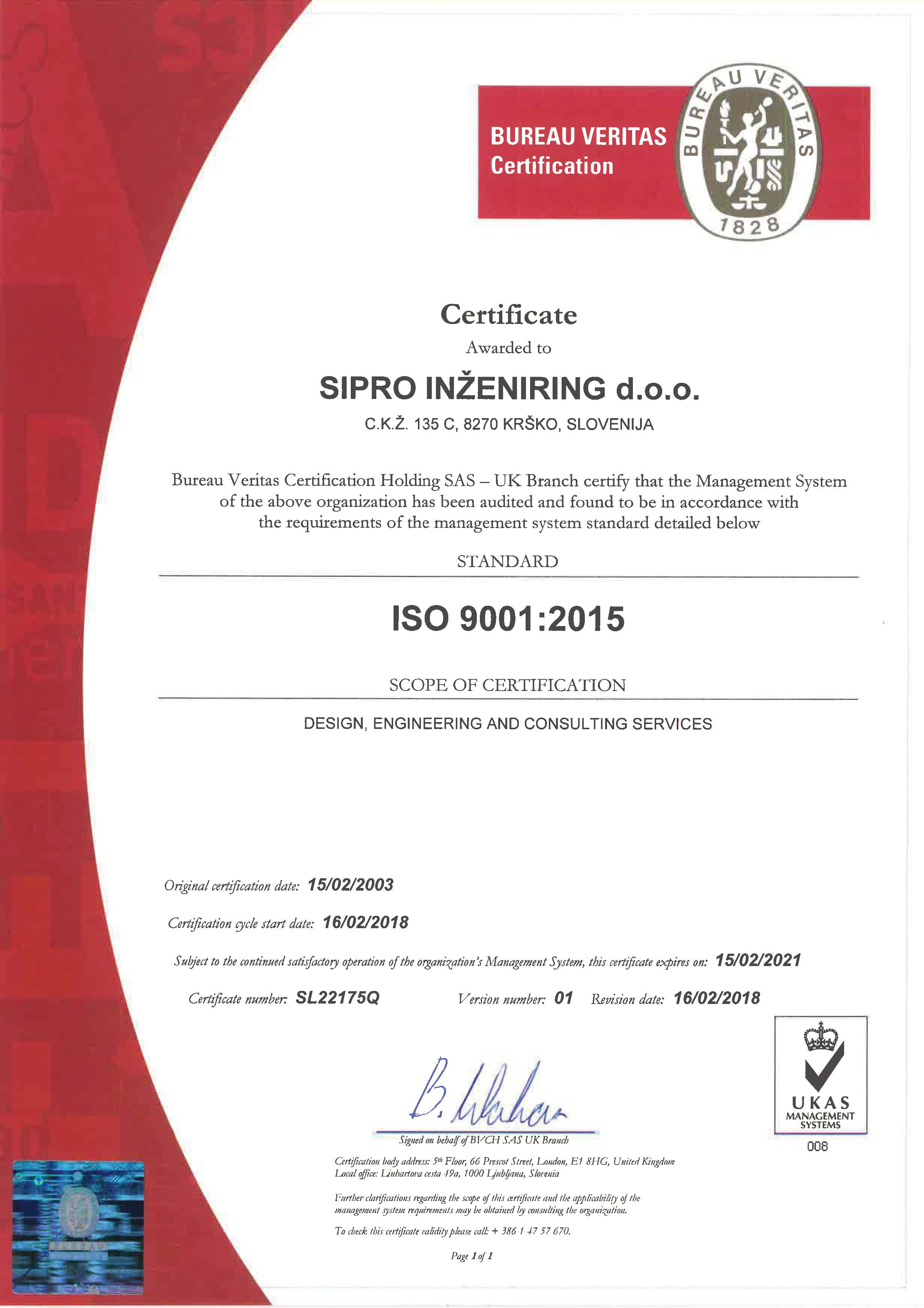 SIPRO INŽENIRING-9001-2015 - ang